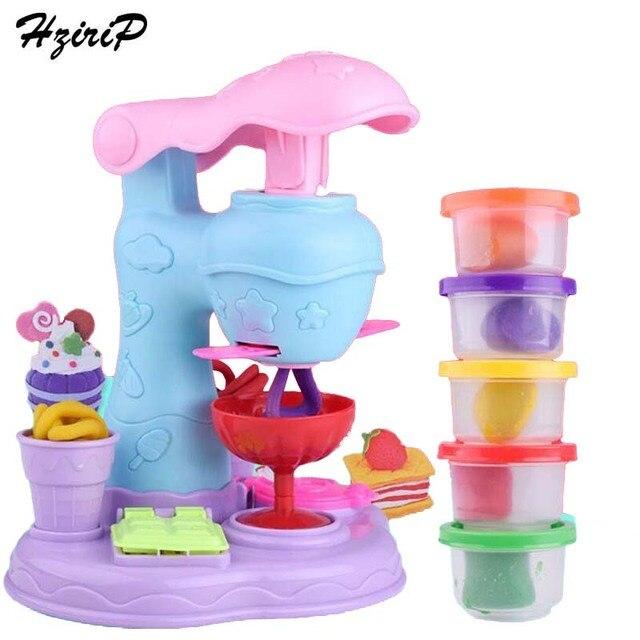 Hzirip New Colored Clay Toys Diy Foods Ice Cream Machine Children