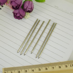 Image 5 - 100pcs/lot Mini metal Ball Pen refill 67.2mm length Writing Lead size 1.0mm Custom size available Stationery office Accessories