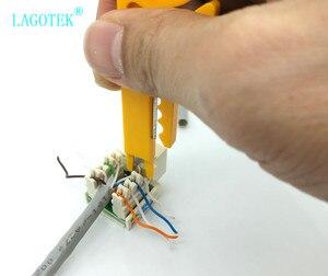 Image 5 - 100 pçs/lote mini portátil fio stripper faca crimper alicate ferramenta de friso cabo descascamento fio cortador multi ferramentas corte linha