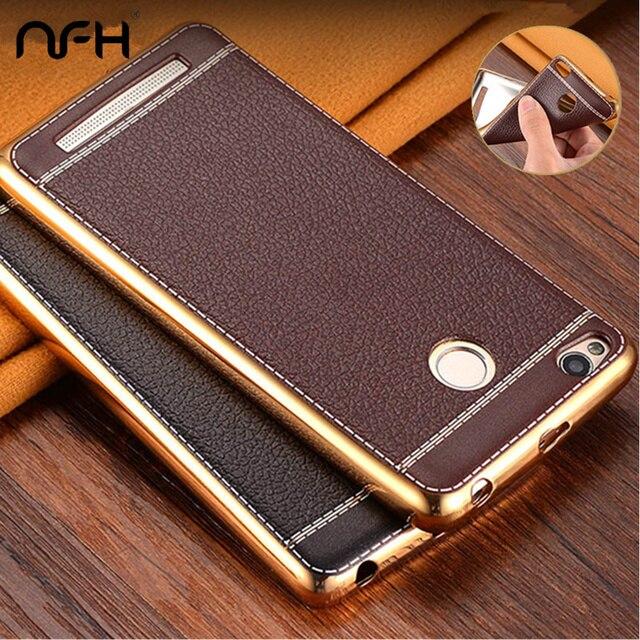 brand new 80c02 48206 US $2.56 23% OFF|NFH Soft Plating Bumper Leather Skin TPU Case For Xiaomi  Redmi 3S Xiaomi Redmi 3S Pro Retro Ultra thin Silicone Back Cover Case-in  ...