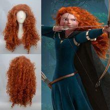Pixar película Animada de Valiente MÉRIDA cosplay peluca envío gratis