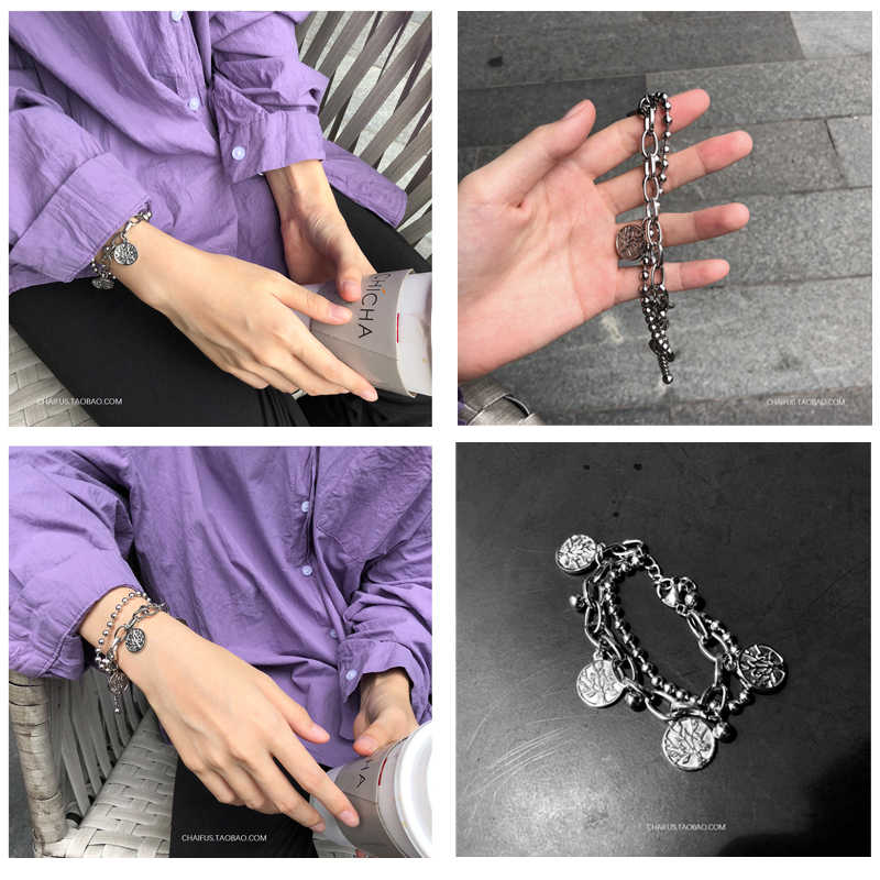 Браслет из нержавеющей стали/пара/Женщины/панк/bileklik/femme браслет из нержавеющей стали pulsera hombre для женщин мужские браслеты 2019