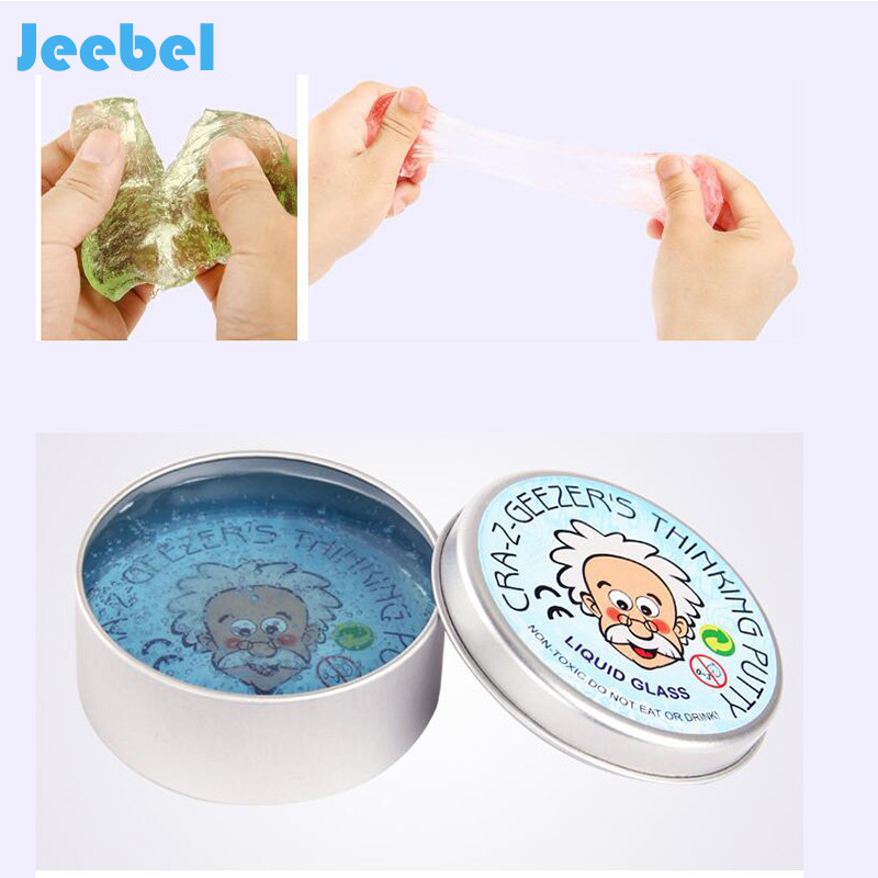 Jeebel Intelligent Transparent Slime Toy Pasticine Polymer Clay Magnetic Rubber Thinking Putty Malleble Playdough Antistress