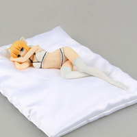 Free Shipping 7 Fate Anime Saber Lily Lingerie Style White Boxed 18cm PVC Action Figure Collection
