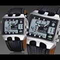 Relogio masculino Relógios 3 ATM À Prova D' Água dos homens de Couro Genuíno Relógios de Pulso Masculino Esportes Ao Ar Livre Relógio Despertador OH60