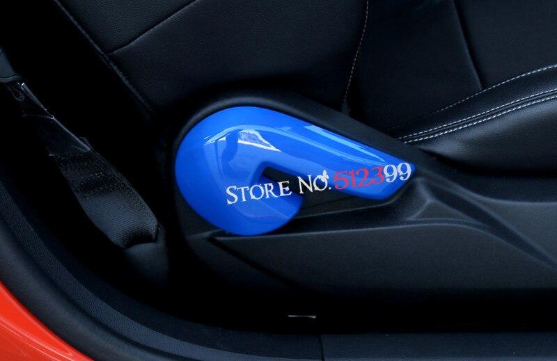 4 kleuren abs plastic interieur rugleuning aanpassing aanpassen knop cover trim auto styling voor ford mustang 2015 2016 2017 in 4 kleuren abs plastic
