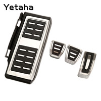 Yetaha Fuel Accelerator Footrest Clutch Brake Pedal For Golf7 Lamando Audi A1 Tiguan L Stainless Steel Pedals Cover Accessories