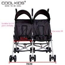 Bello twins baby stroller portable car umbrella suspension folding child double wheelbarrow emperorship