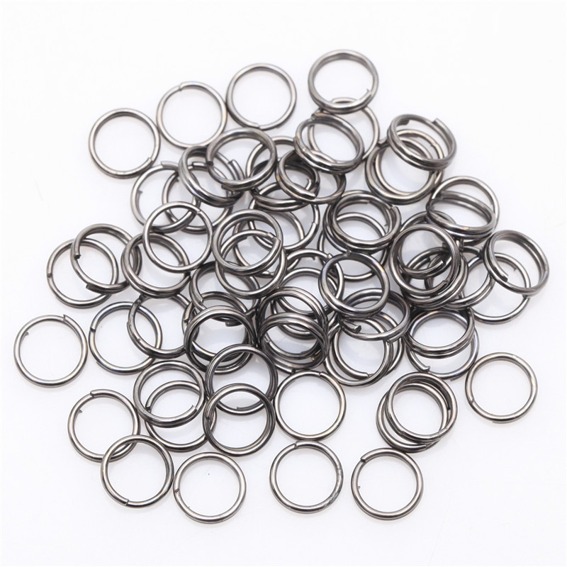Gold silver color metal fishing double split rings for Fishing split rings