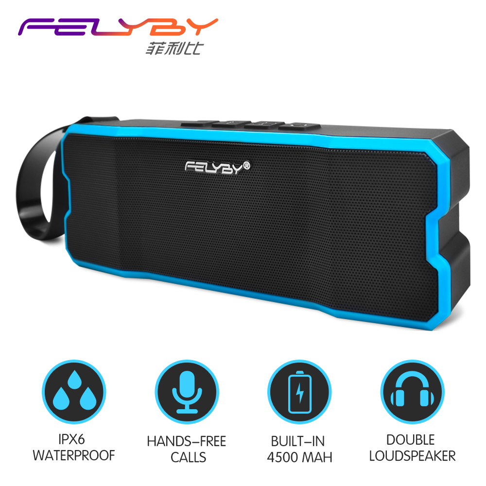 FELYBY Bluetooth Speaker Waterproof Player / Shockproof Subwoofer Built-in Outdoor Wireless mp3 Speaker powered audio speakers
