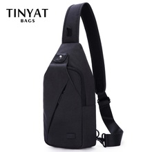 TINYAT Sling bag For 7.9 pad Black Casual Functional Men Che