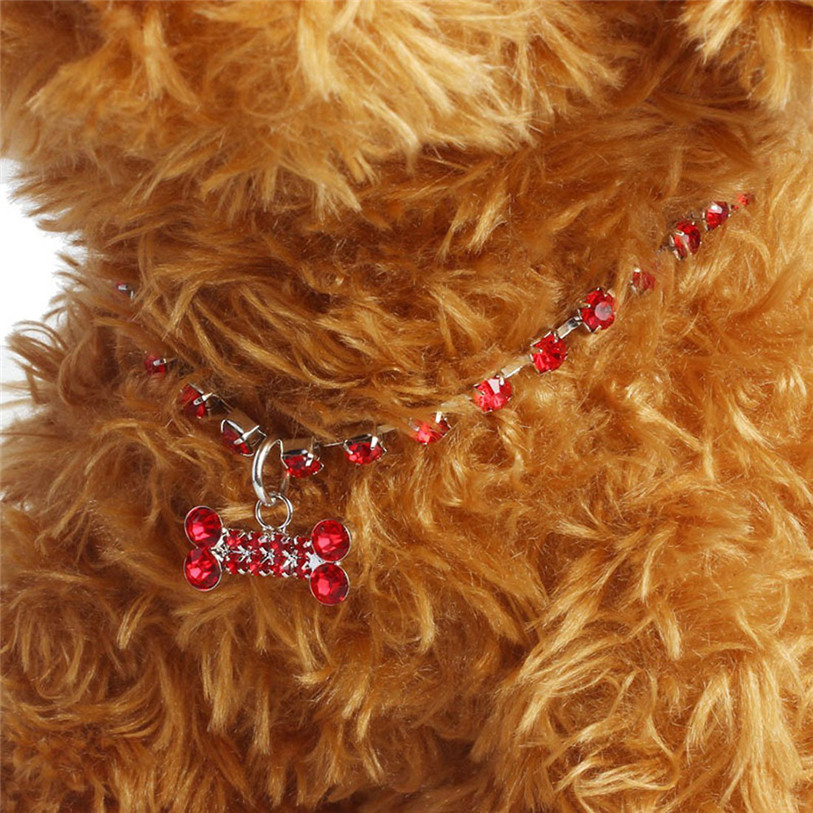 Bling Full Rhinestone Alloy Dog Necklace Collar Pendant for Pet Puppy Small Dogs Cats Party Decor Dress Up Pet Supplies 40JA22 (9)