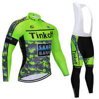 2020  Tinkoff Cycling Set Long Sleeves Cycling Jersey Pro Team Ropa Ciclismo Quick-dry Cycling Clothing Set MTB GEL Pad