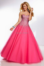 Wholesale peach colored gowns