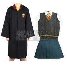 Gryffindor Hermione Granger Cosplay Robe Skirt Uniform Wand Custom Made