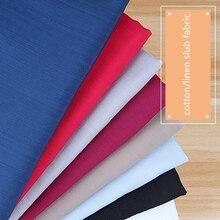 1 meter cotton linen fabric for sewing fabrics slub cloth poplin telas fat quarters patchwork curtain dress