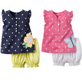 Butterfly Flower Newborn Baby Girls Kids Clothes Tops+Shorts Pants 2pcs Girl Set