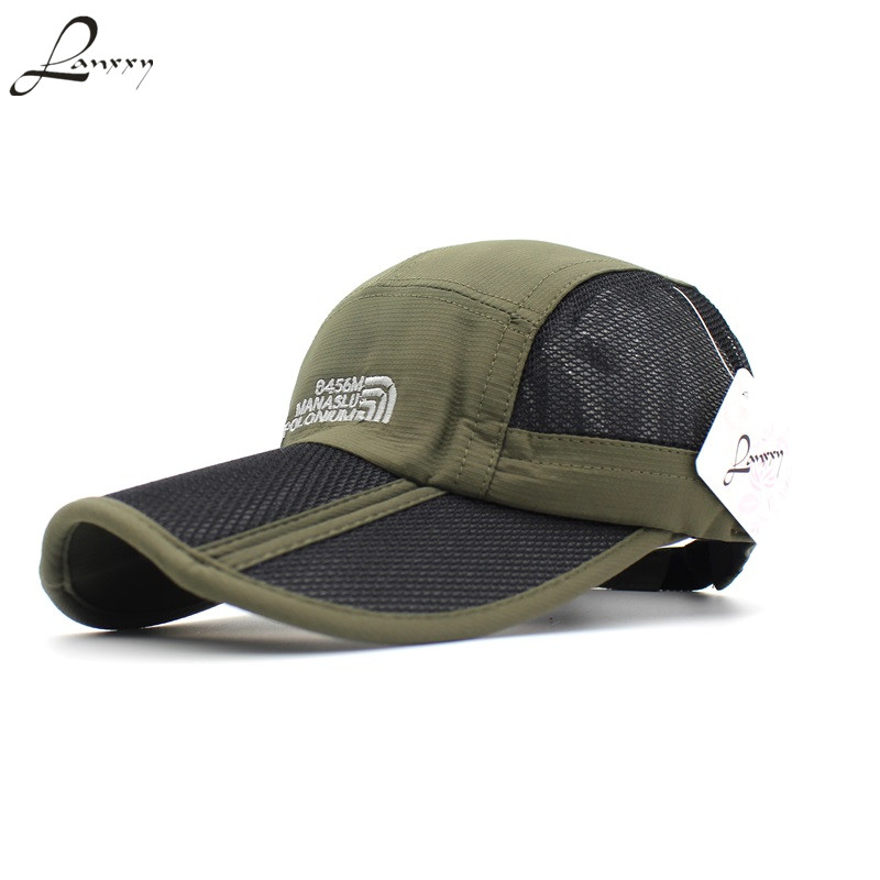 Lanxxy Foldable Sun Hats for Men Women 2015 New Summer Hat Snapback Caps Mesh Breathable Baseball Cap built clear new hat knitted fashion knit hats winter hat caps skullies hat for men women beanie casual hot baggy inflatable