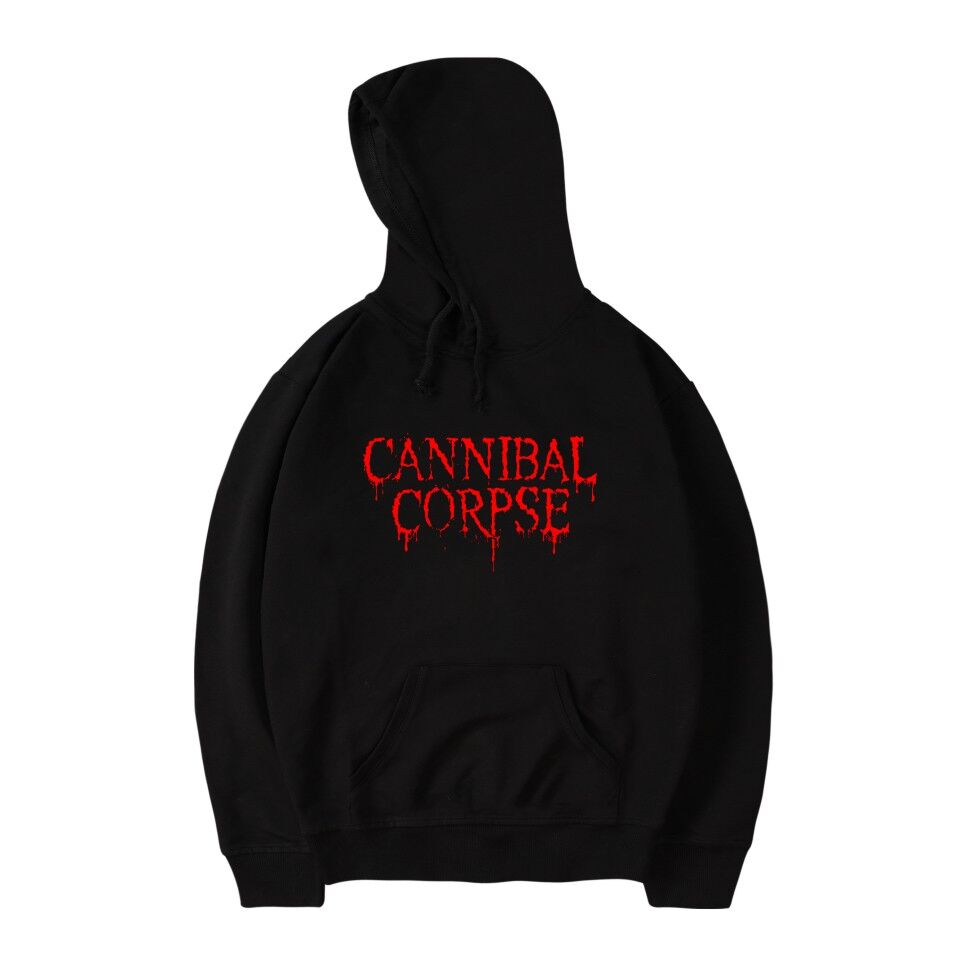 Brutal Death Metal CANNIBAL CORPSE Hoodie Sweatshirt Band Name Logo Print Fashion Cotton Pullover Men CANNIBAL CORPSE Hoodie