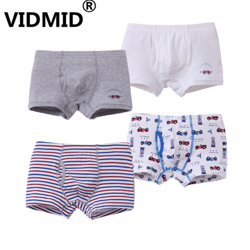 VIDMID New Cartoon Children Boys Boxer Briefs Underwear panties For Kids 2-12 years boy cotton boxers underwears clothes 7010 76 5piece new pure color boys kids underwear boxers mixing many children underwear modal high quality soft modal boys briefs2 16y