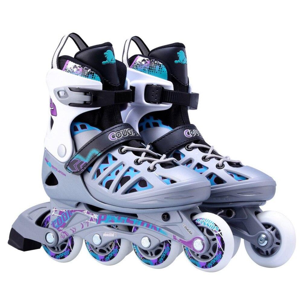 Unisexe adultes chaussures de patinage professionnel à une rangée de patins à roulettes chaussures réglables chaussures de patinage à roulettes