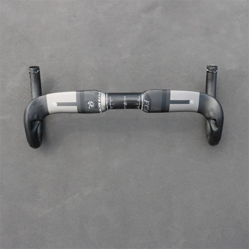 nová FCFB 3k karbonová řídítka drop 125mm dosah 80mm 31.8 * 400/420 / 440mm karbonová řídítka road mat