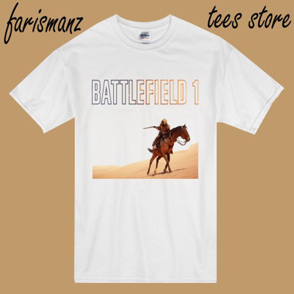 New Battlefield 1 Famous FPS Game Logo Mens White T-Shirt Size S to 3XL