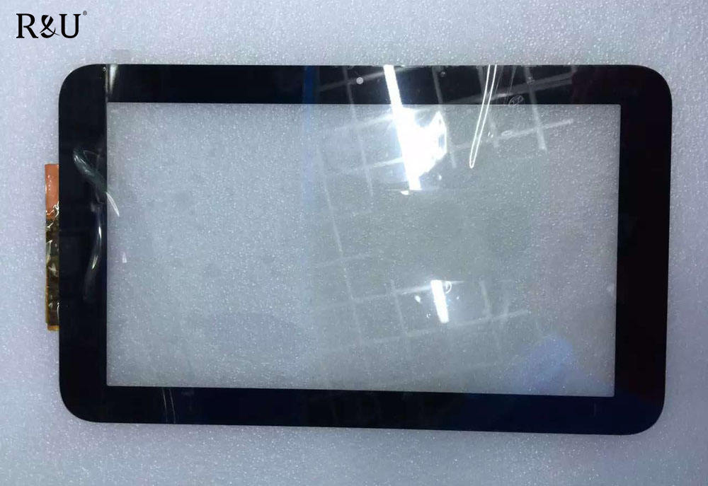 R&U high quality 10.1 Touch Screen Glass 10.1 inch Black color outside screen for HP Slate 10 3500 3600 BLACK color IN STOCK
