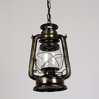 310mm*180mm Vintage nostalgic lantern kerosene lamp pendant light bar entranceway lamp
