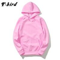 T Bird 2017 Brand Men Hooded Solid Sweatshirts Men Women Hoodies Fitness Streetwear Hip Hop Male