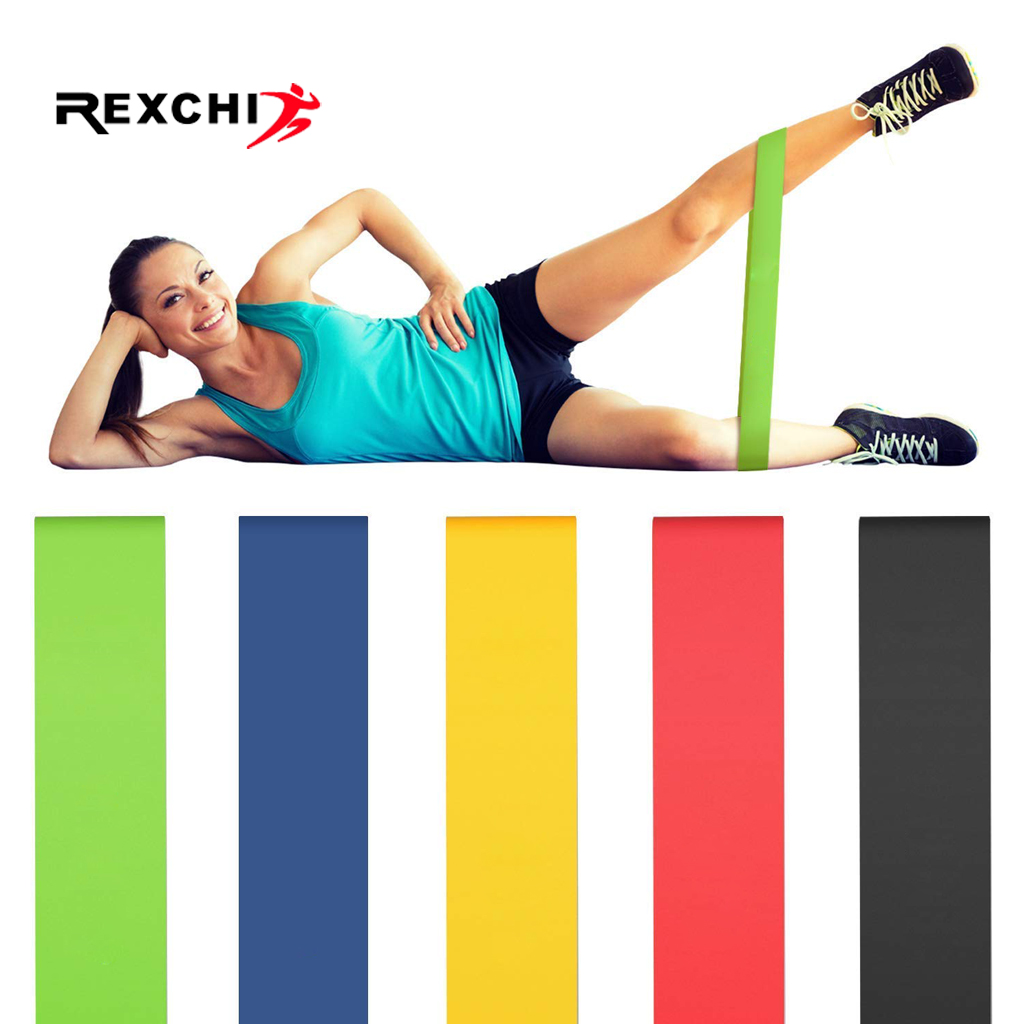 REXCHI Gym Fitness Resistance Bands for Yoga Stretch Pull Up Assist Bands Rubber Crossfit Exercise Training Workout Equipment image