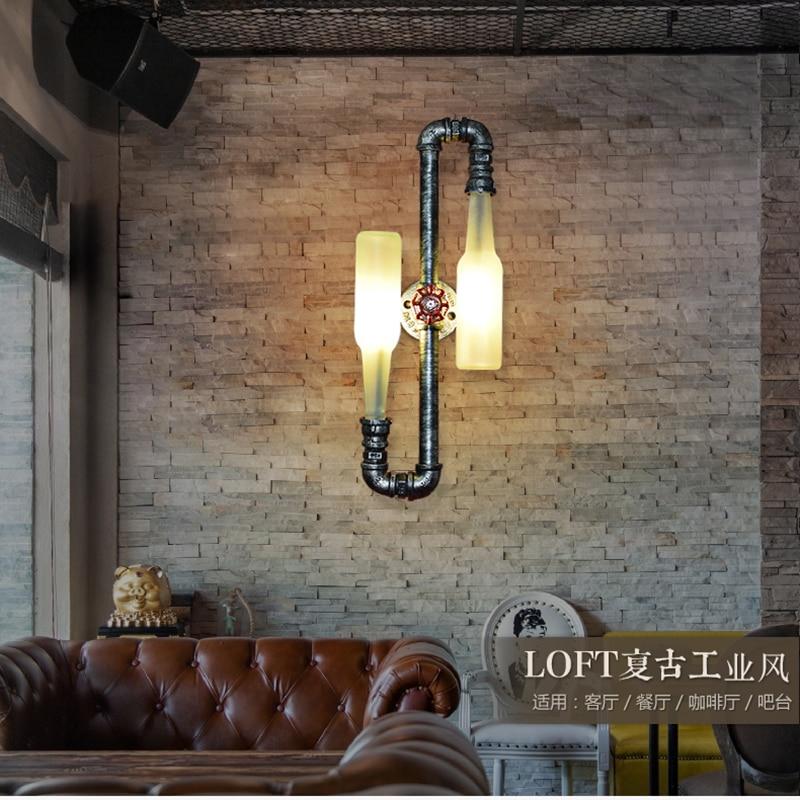 Mode Vintage Rustikalen Wandlampen Bierflasche Wandleuchte Led Licht für Bar Schlafzimmer Flur Balkon Decor G9 Led lampe Hause beleuchtung - 6