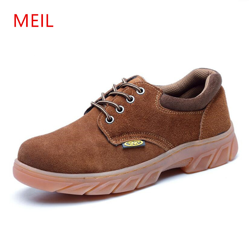 MEIL 2018 Men Boots Work Safety Shoes oxford shoes for men winter boots  Steel Toe Cap Anti-Smashing Puncture