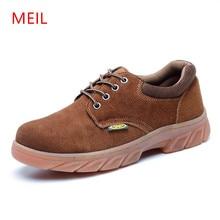 MEIL 2018 Men Boots Work Safety Shoes oxford shoes for men winter boots shoes men  Steel Toe Cap Anti-Smashing  Puncture картридж epson c13t596300