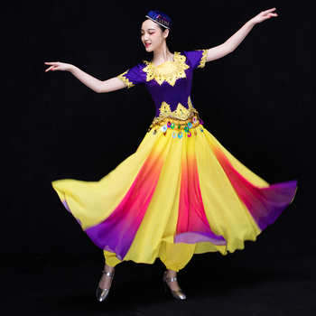 2016 new Uygur Skirt Adult Costumes opening dance square dance Xinjiang Dance Costume female clothing