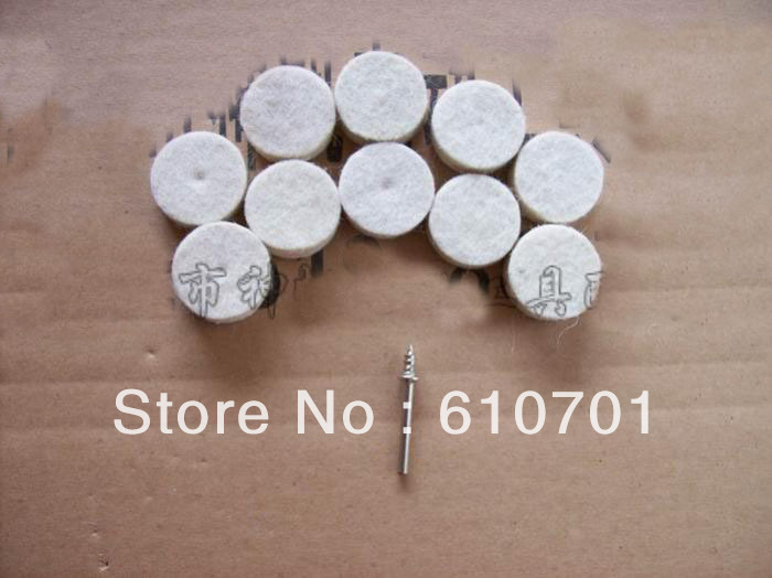 10pcs 1 25mm Felt Wool Buffing Polishing Wheels Pads With 3.2mm Dia Mandrel Shank