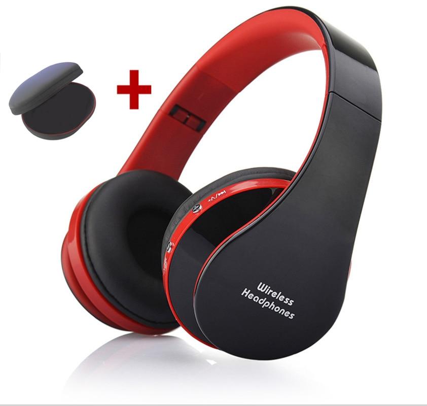 MidCreat 8252, беспроводная Bluetooth гарнитура, складные наушники, Bluetooth наушники, шумоподавление с микрофоном для спортивной музыки - Цвет: Red and bag