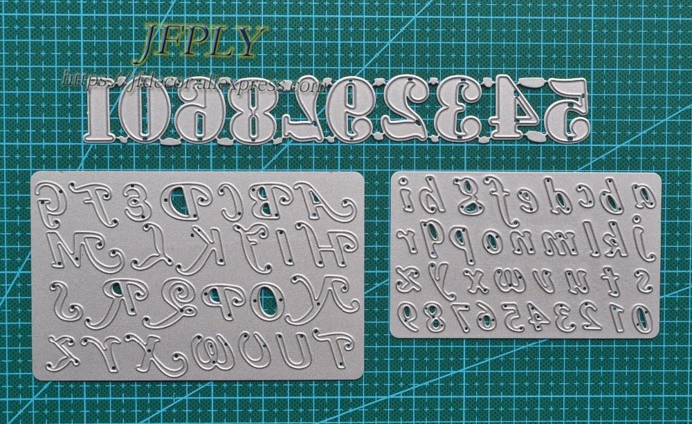 Metal Cutting Dies Alphabet Letters Arabic Numerals DIY Scrapbooking Cut Stencil