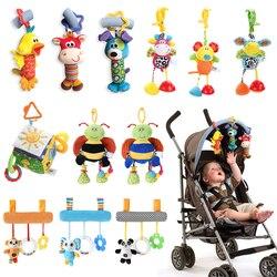 Погремушка для новорожденных, плюшевые игрушки в виде животных из мультфильмов, ручная коляска, подвесная погремушка для кроватки, каваи, д...