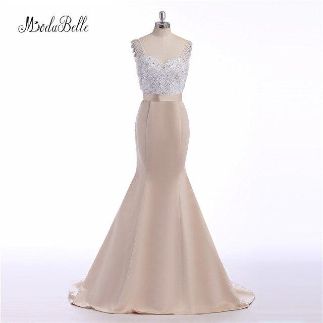 4e45d2018 Modabelle árabe largo vestido de noche formal de las mujeres elegantes  Vestidos con perlas blancas Encaje