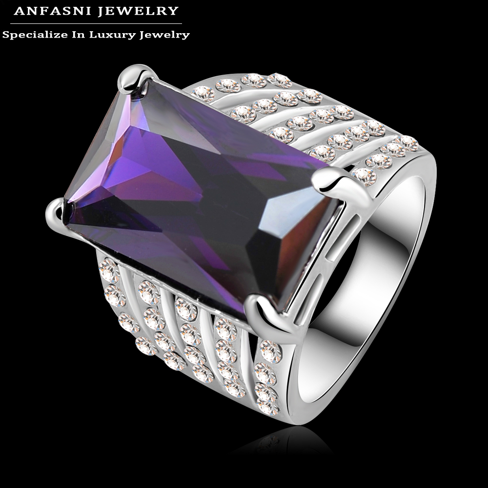 Aliexpress.com : Buy ANFASNI Rectangle Shaped Purple