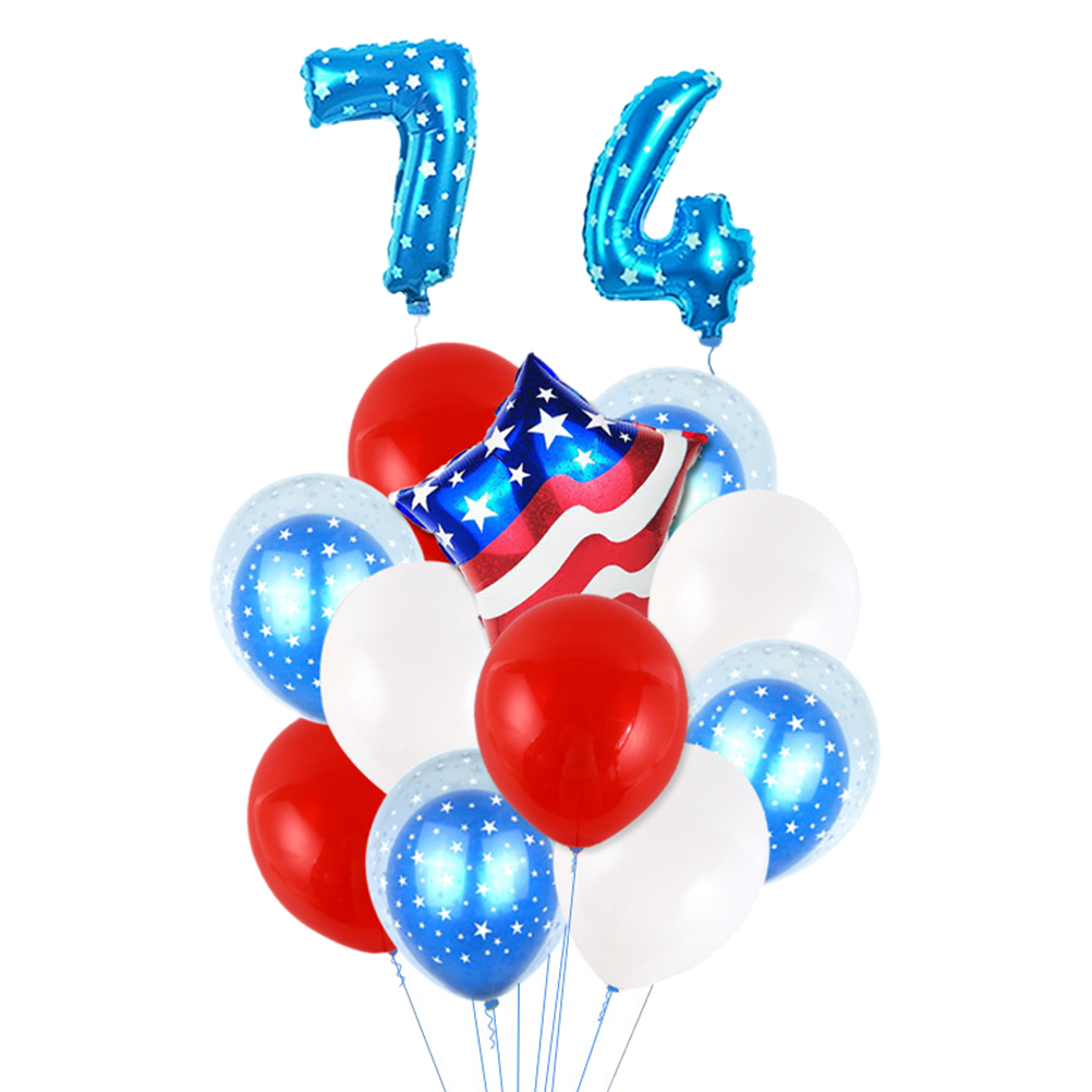 Home & Garden Festive & Party Supplies 10pcs July 4th American Independence Day Party Decor Balloons Banner Blue Star Red Stripe Latex Air Balloons Flag Decor Kids Toy