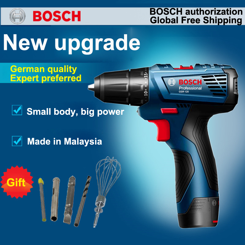 New GSR120-LI Rechargeable Drill Lithium Electric Drill Hand drill Screwdriver <font><b>12V</b></font> <font><b>1.5Ah</b></font> Household Professionals Essential Tool image