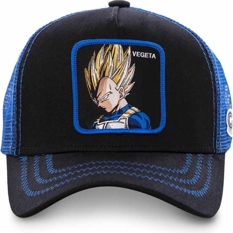 Nowy marka VEGETA kapsułka Corp Dragon Ball Snapback bawełniana czapka baseballowa mężczyzn kobiet Hip Hop tata czapka z daszkiem czapka z daszkiem Trucker Dropshipping