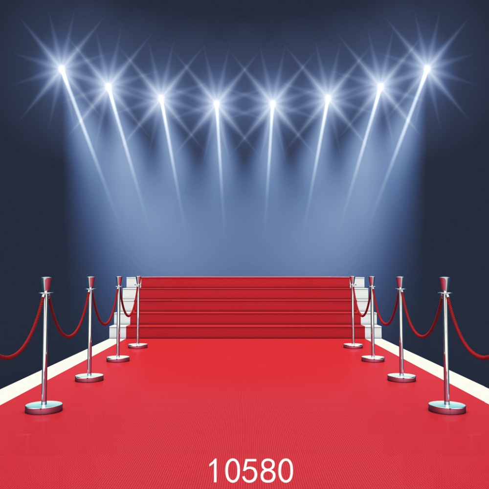 Červený koberec Pozadí 10x10ft pozadí Party pozadí 300x300cm Fond studio photo vinyle Fotografie studio pozadí