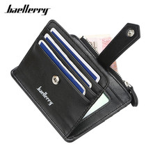 Baellerry Super Thin Men Wallet Purse High Quality Card Holder ID Credit Bag Small Purses Many Departments Wallets