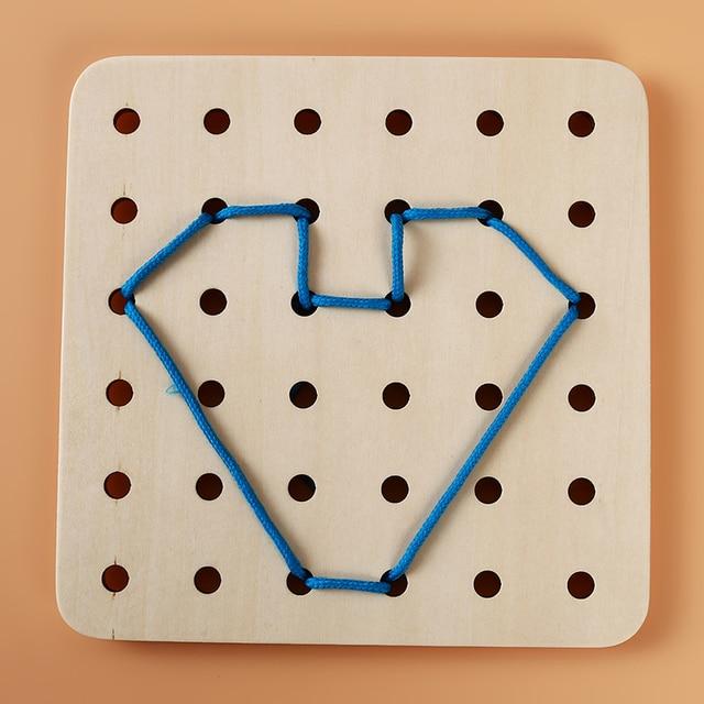 Baby Threading Bord Spielzeug DIY Handwerk Threading Bord Spielzeug Für Kind Kinder Niedlichen Tier Schnürung String Schnürsenkel Perlen Spielzeug
