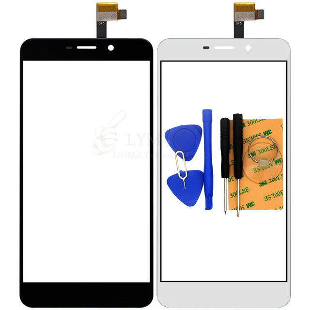 """Black White TP for UMI Super 5.5"""" Touch Screen Digitizer Glass Panel Sensor No LCD Smartphone Replace Part Free Shipping+Tools"""