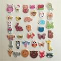 50PCs Scrapbooking Buttons Wooden Buttons Mixed Animal Bee Owl Hedgehog Bear Dog Elephant Head Buttons Sewing Accessories5-40mm