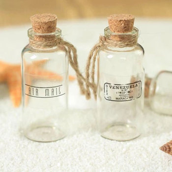 Reusable Mini Wishing Bottle Clear Glass Storage Vial Container with Cork Stopper Photography Accessories Photo Studio DIY Decor недорого